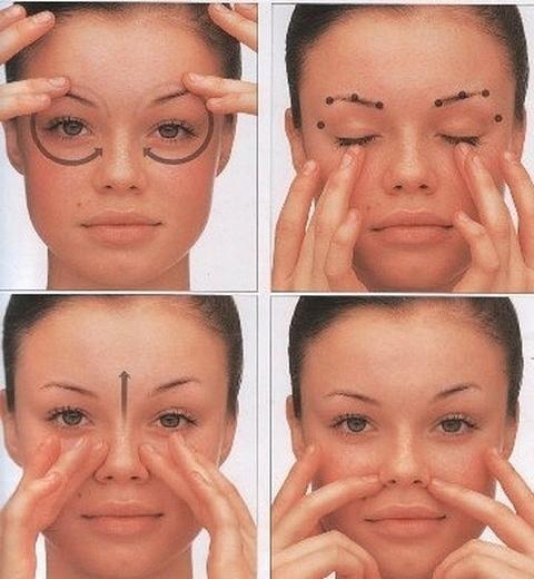 Массаж для лица и глаз в домашних