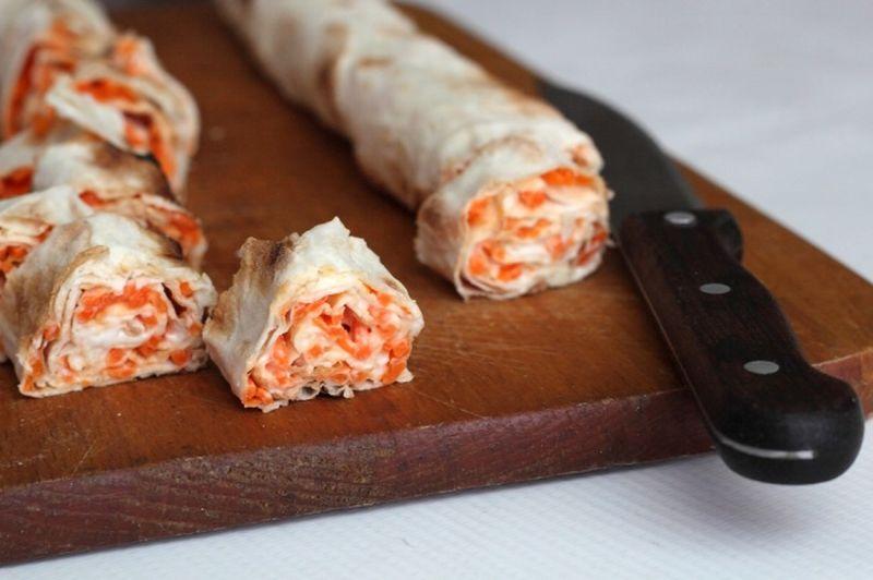 Начинка для лаваша с морковью по-корейски