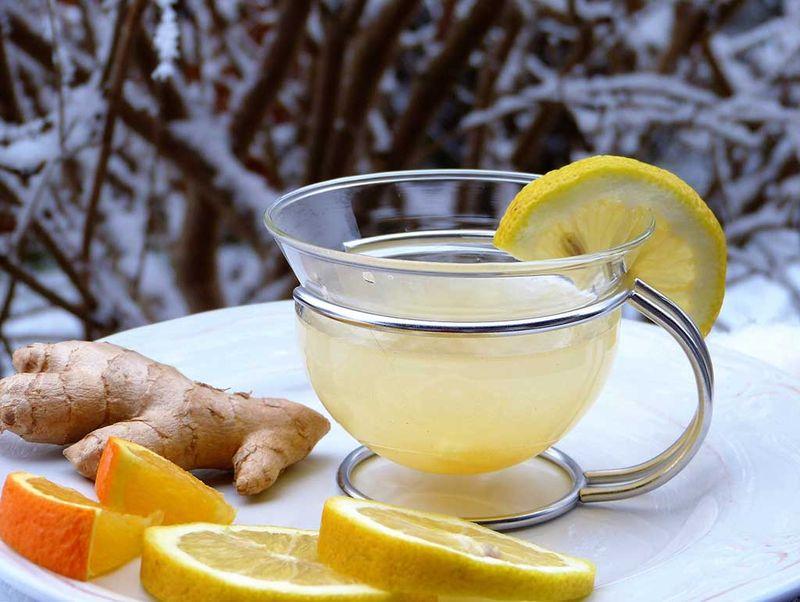 Бодрящий имбирный чай для тонуса