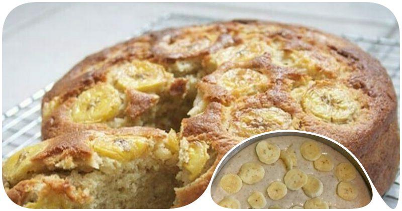 Простой и быстрый пирог с бананами без муки и сахара