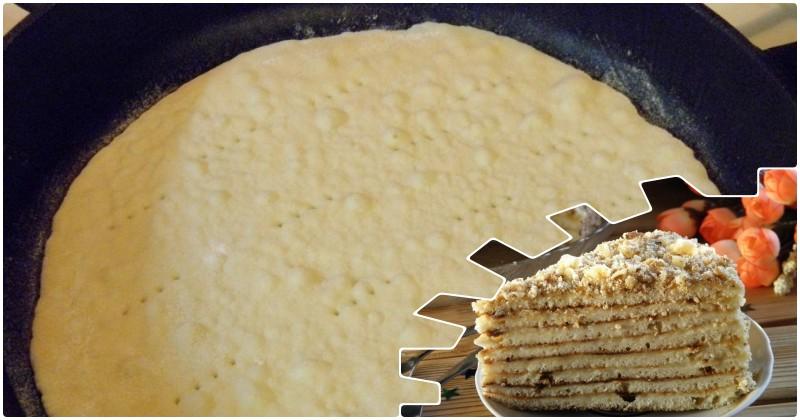 Жареный торт на сгущенном молоке: после сковороды каждый кусочек расстает во рту