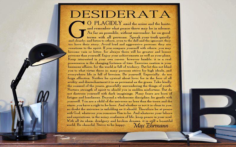 Desiderata укажет путь к счастью каждому: светлая поэма о смысле жизни